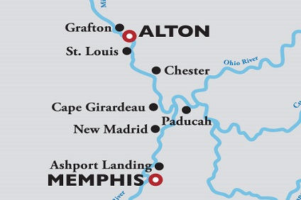 American Duchess, Ohio and Tennessee Rivers ex St Louis to Memphis – 03 Oct 2021