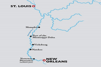 American Countess, Breast Cancer Awareness Cruise ex St Louis to New Orleans – 16 Oct 2021