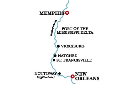 American Duchess, Charms of the South Cruise ex New Orleans to Memphis – 28 Nov 2021