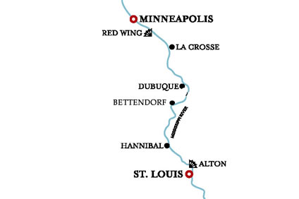 Upper Mississippi – St Louis to Red Wing – 21 Aug 2022