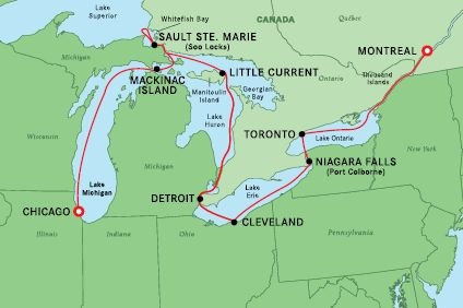 Great Lakes Grand Discovery Cruise – 25 Aug 2022