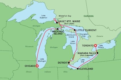 Splendour of the Great Lakes Small Ship Cruise – 08 May 2022