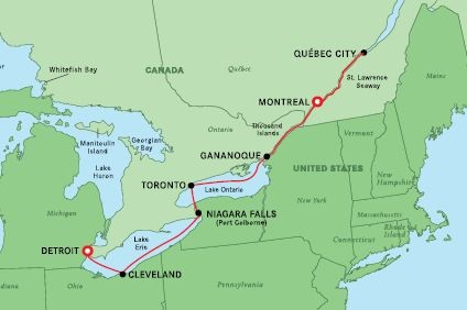 French Canada & Great Lakes – Detroit to Montreal – 14 Sep 2022