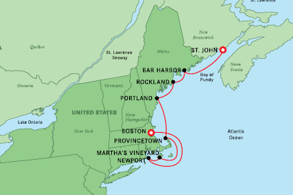 Autumn in New England Cruise – 20 Oct 2022